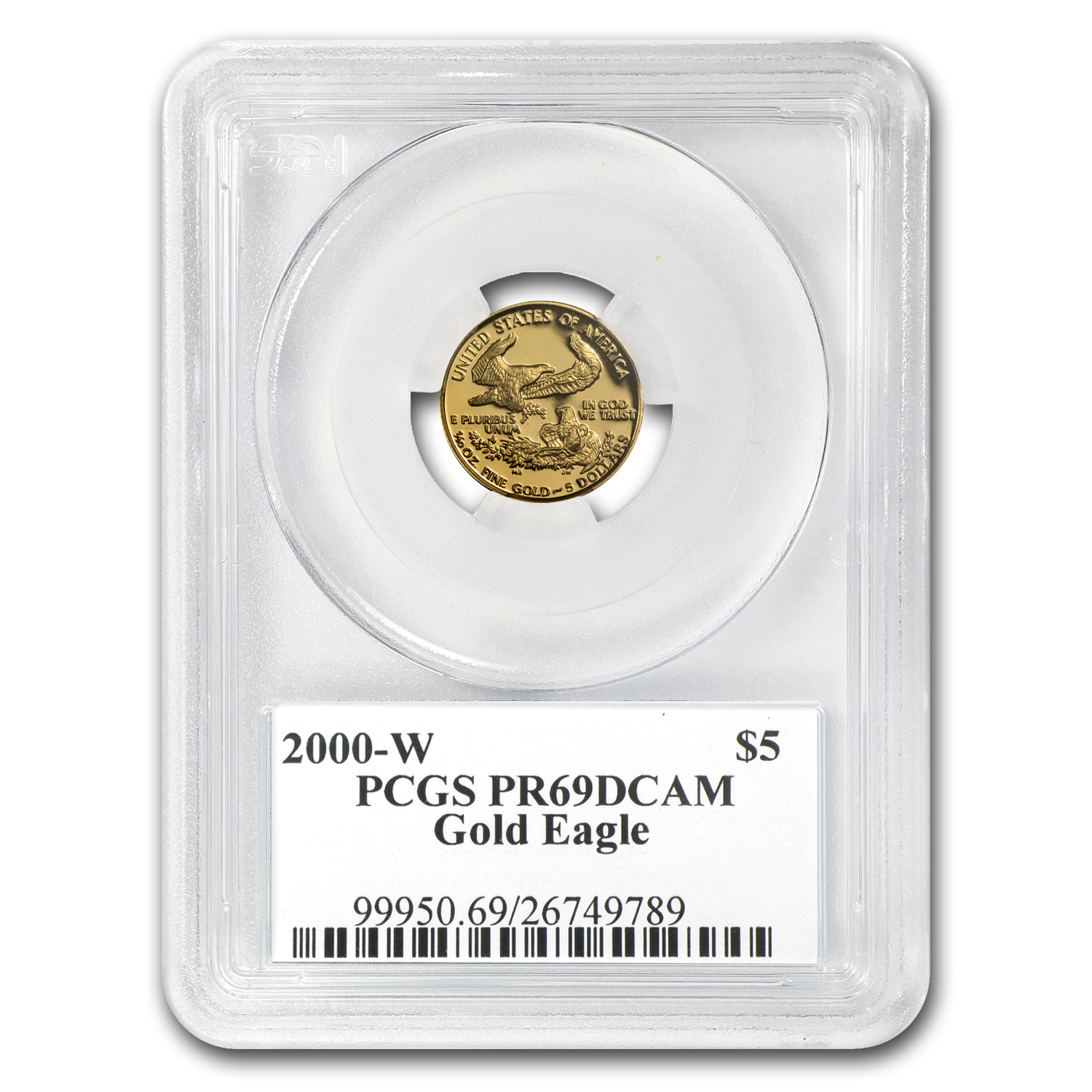 2000-W 1/10 oz Proof Gold American Eagle PR-69 PCGS John Mercanti