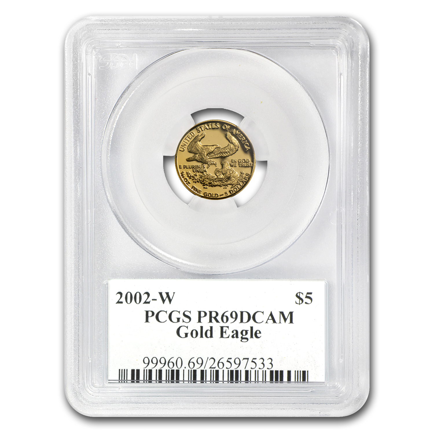 2002-W 1/10 oz Proof Gold American Eagle PR-69 PCGS John Mercanti