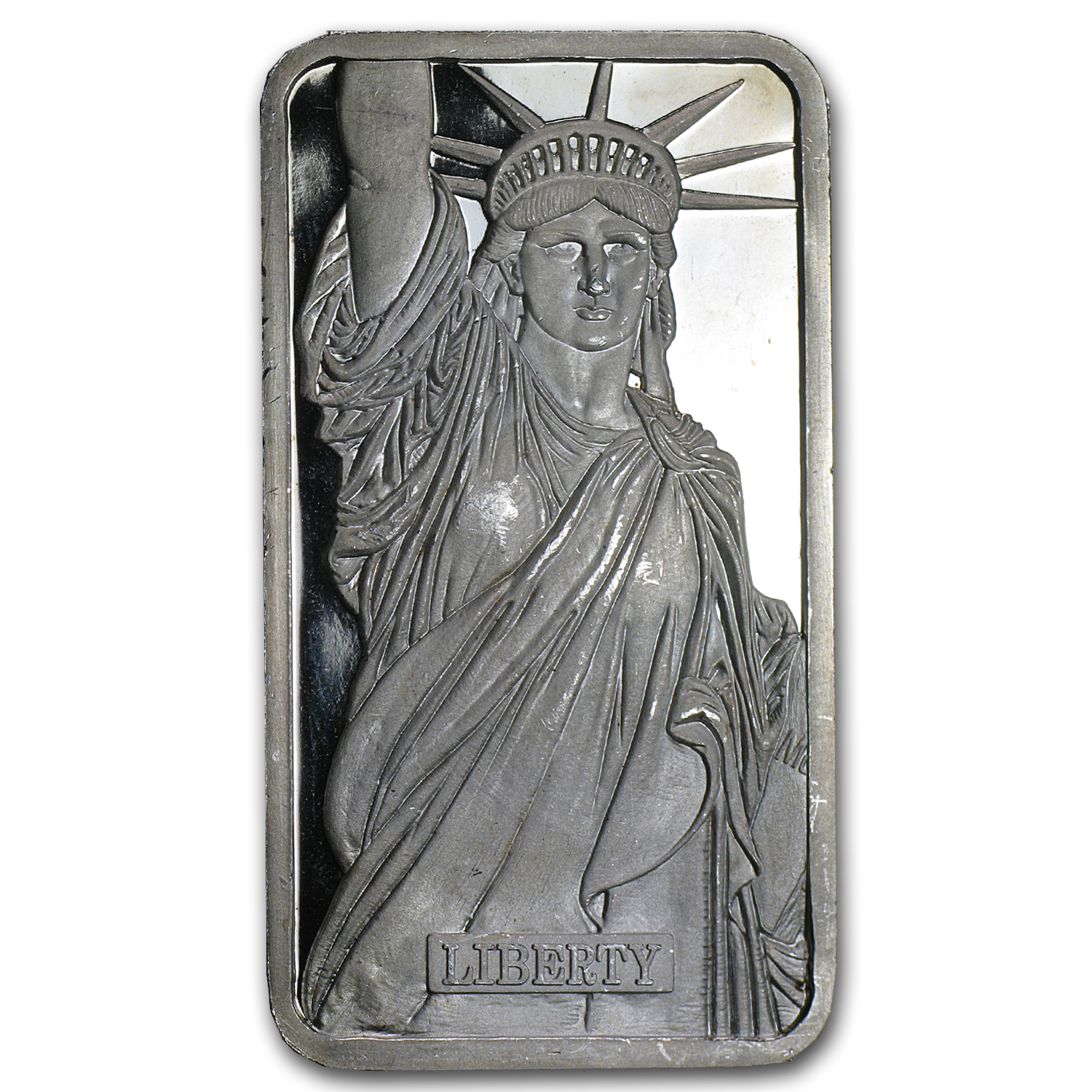 5 oz Silver Bar - Johnson Matthey (Statue of Liberty/MTB)