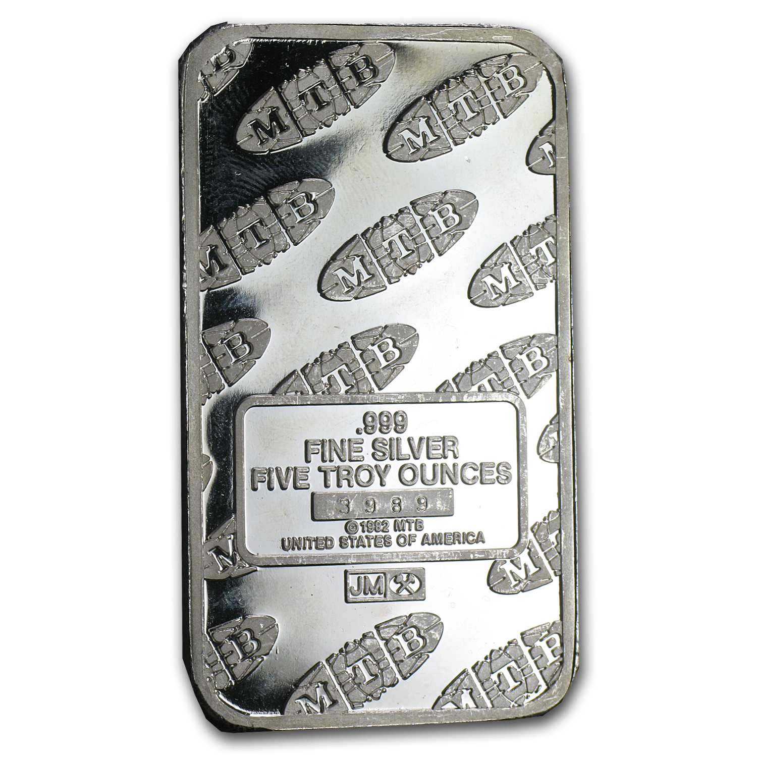 5 oz Silver Bars - Johnson Matthey (Statue of Liberty/MTB)