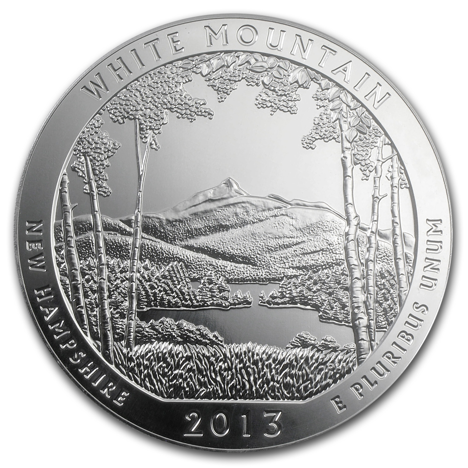 2013 5 oz Silver ATB White Mountain National Park, NH 10/3