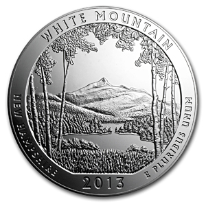 2013 5 oz Silver ATB White Mountain (10-coin MintDirect®)