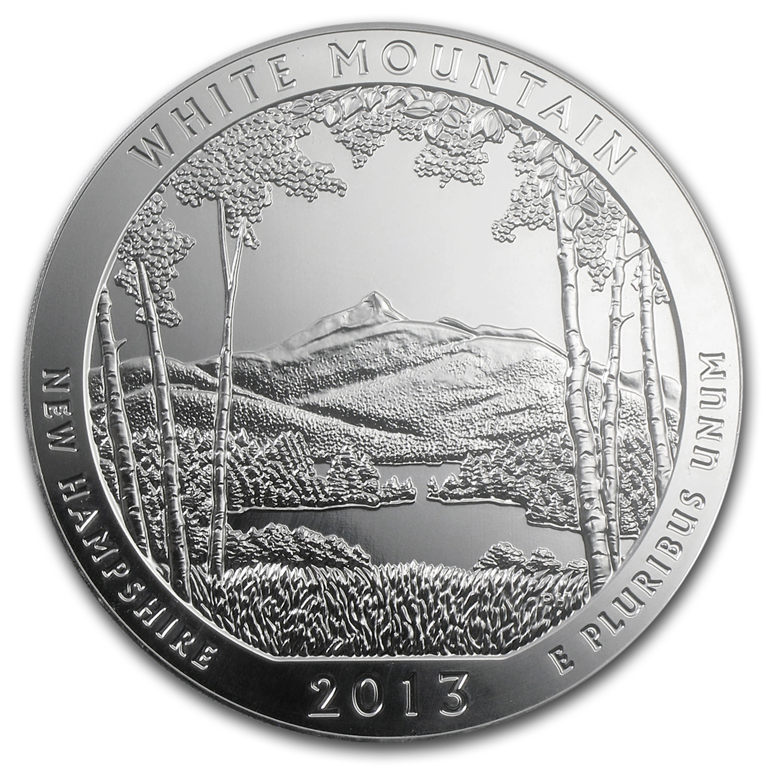 2013 5 oz Silver ATB White Mountain (10-Coin MintDirect® Tube)