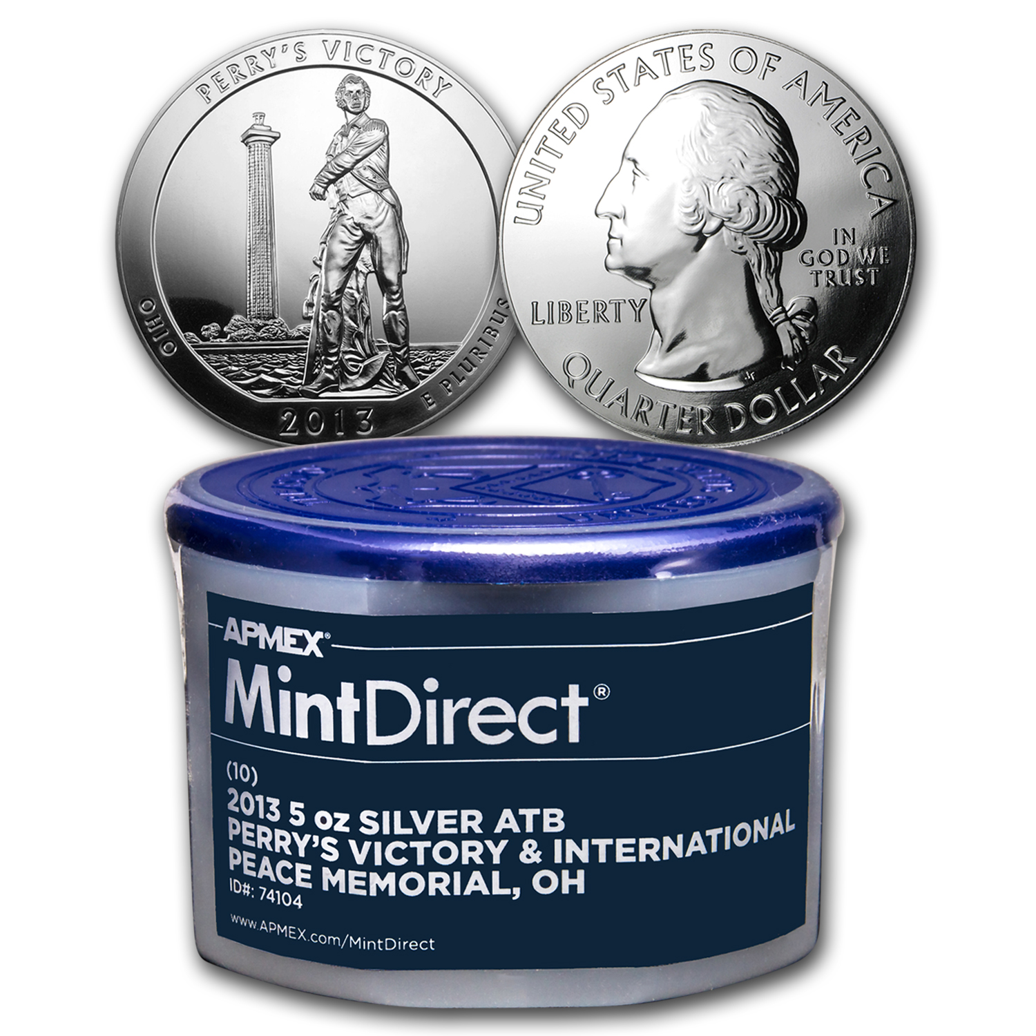 2013 5 oz Silver ATB Perry's Victory (10-Coin MintDirect® Tube)