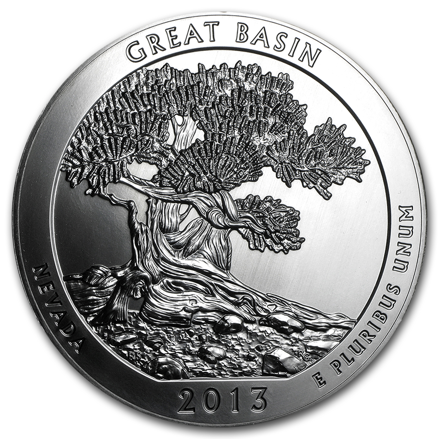 2013 5 oz Silver ATB Great Basin (10-Coin MintDirect® Tube)