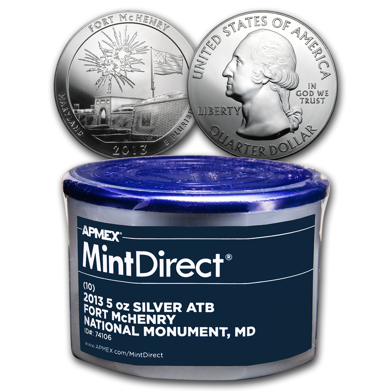 2013 5 oz Silver ATB Fort McHenry (10-coin MintDirect®)