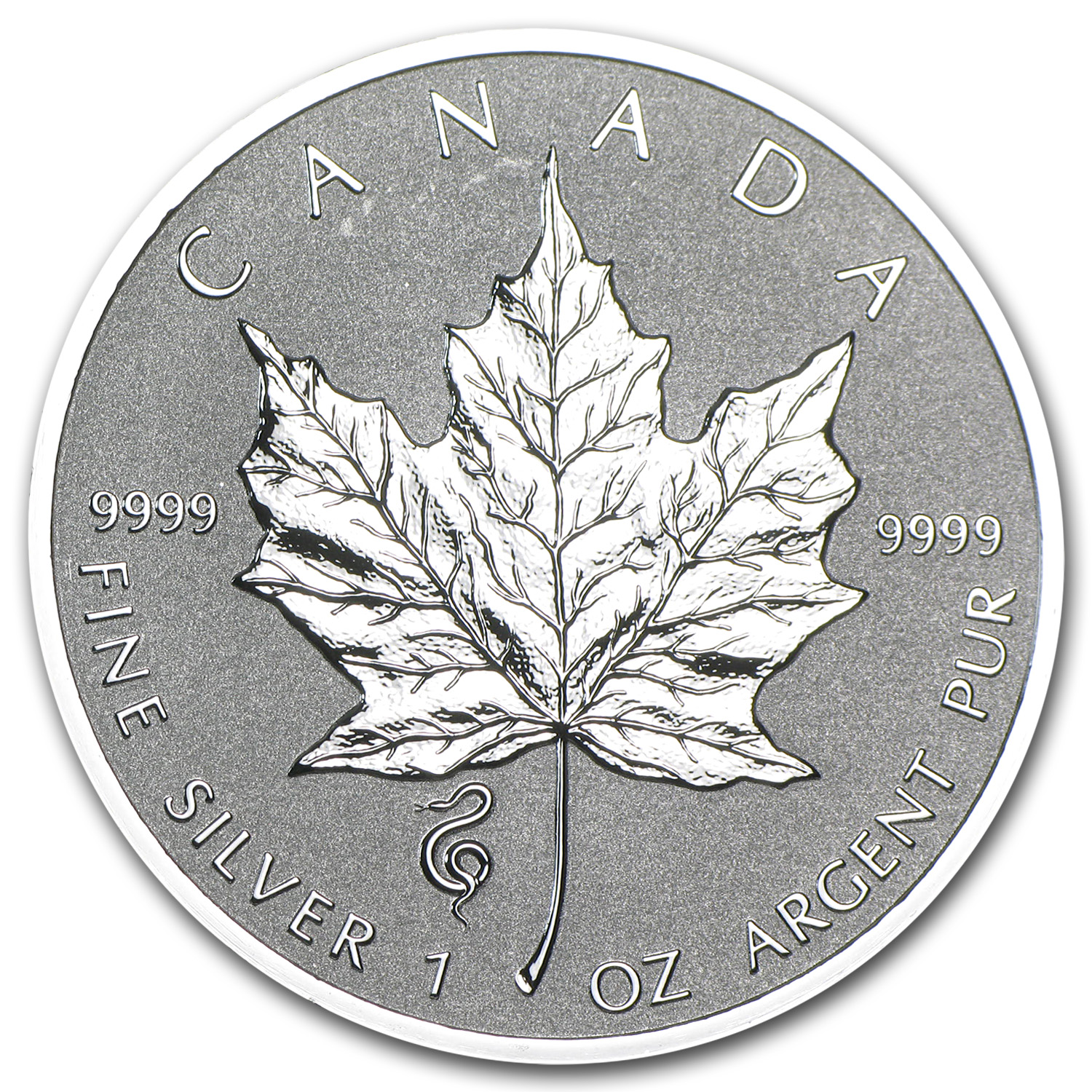 2013 Canada 1 oz Silver Maple Leaf Lunar Snake Privy