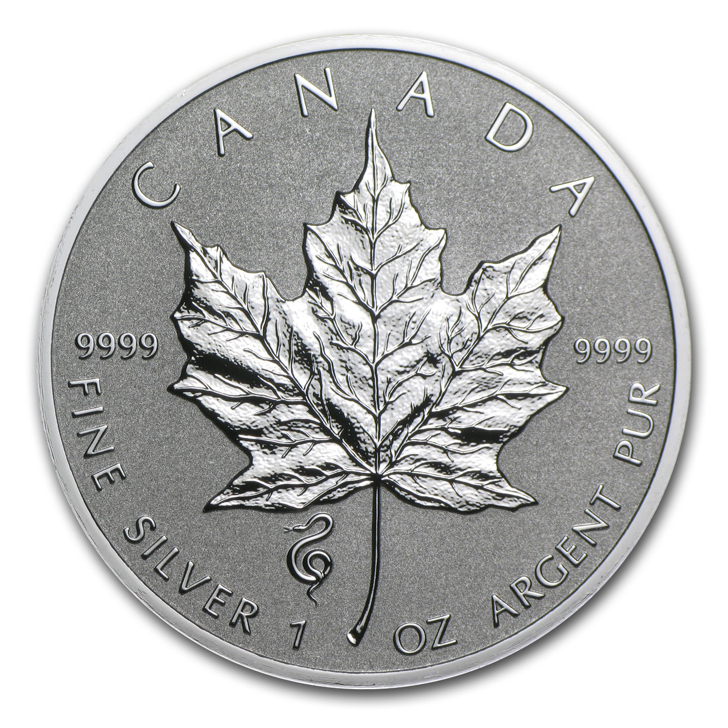 2013 Silver Maple Leaf Snake Privy (25-Coin MintDirect® Tube)