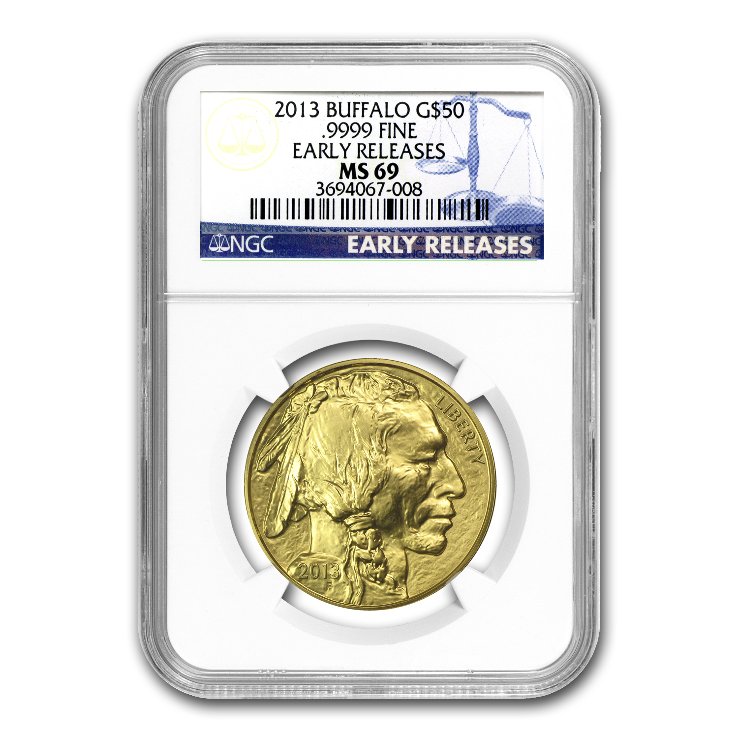 2013 1 oz Gold Buffalo MS-69 NGC (Early Releases)