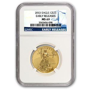 2013 1/2 oz Gold American Eagle MS-69 NGC (Early Releases)