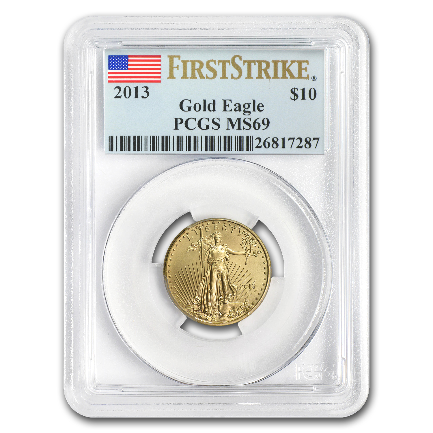 2013 1/4 oz Gold American Eagle MS-69 PCGS (FS)