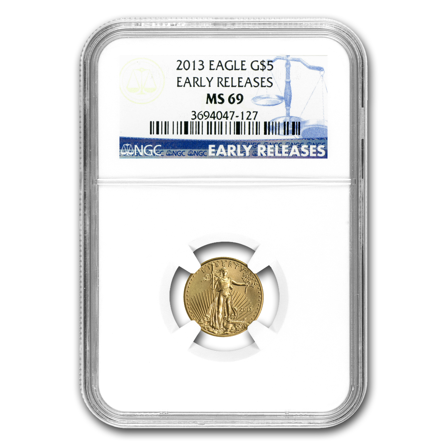2013 1/10 oz Gold American Eagle MS-69 NGC Early Releases