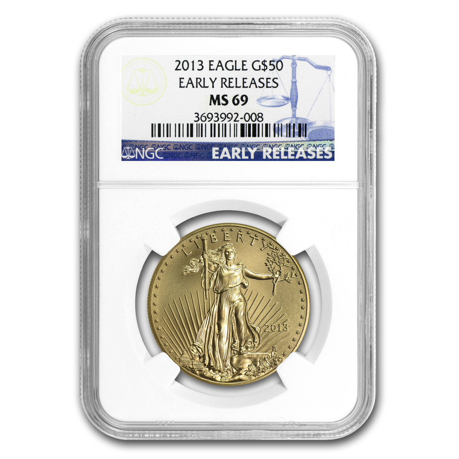 2013 1 oz Gold American Eagle MS-69 NGC (Early Releases)
