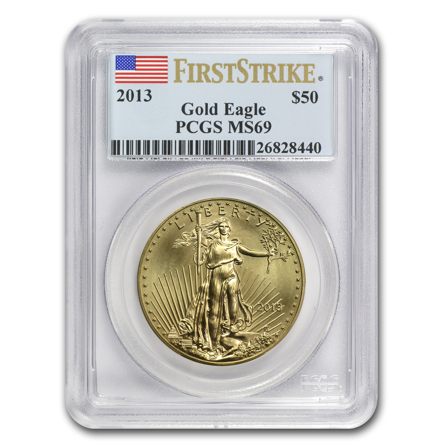 2013 1 oz Gold American Eagle MS-69 PCGS (FS)