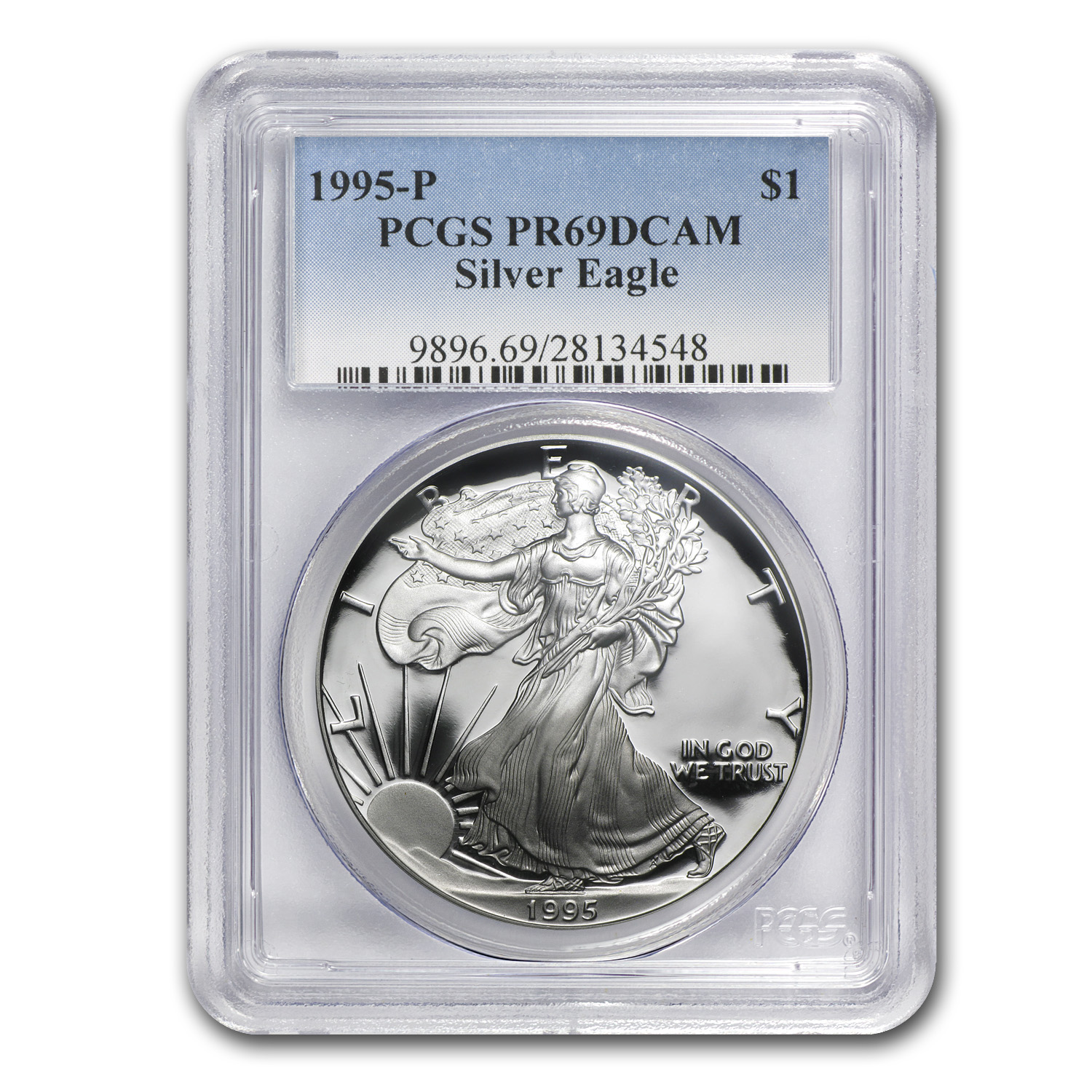 1986-2013 27-Coin Proof Silver American Eagle Set PR-69 PCGS