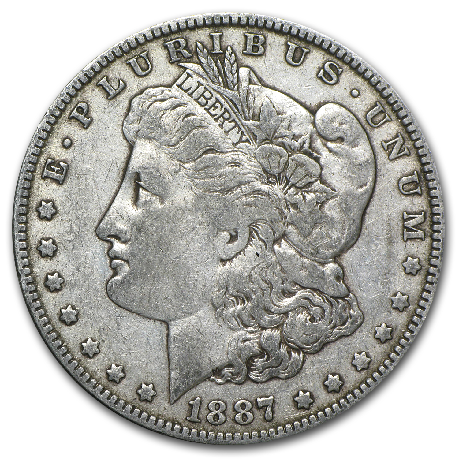1887 Morgan Dollar VF (VAM-1A, Donkey Tail, Top-100)