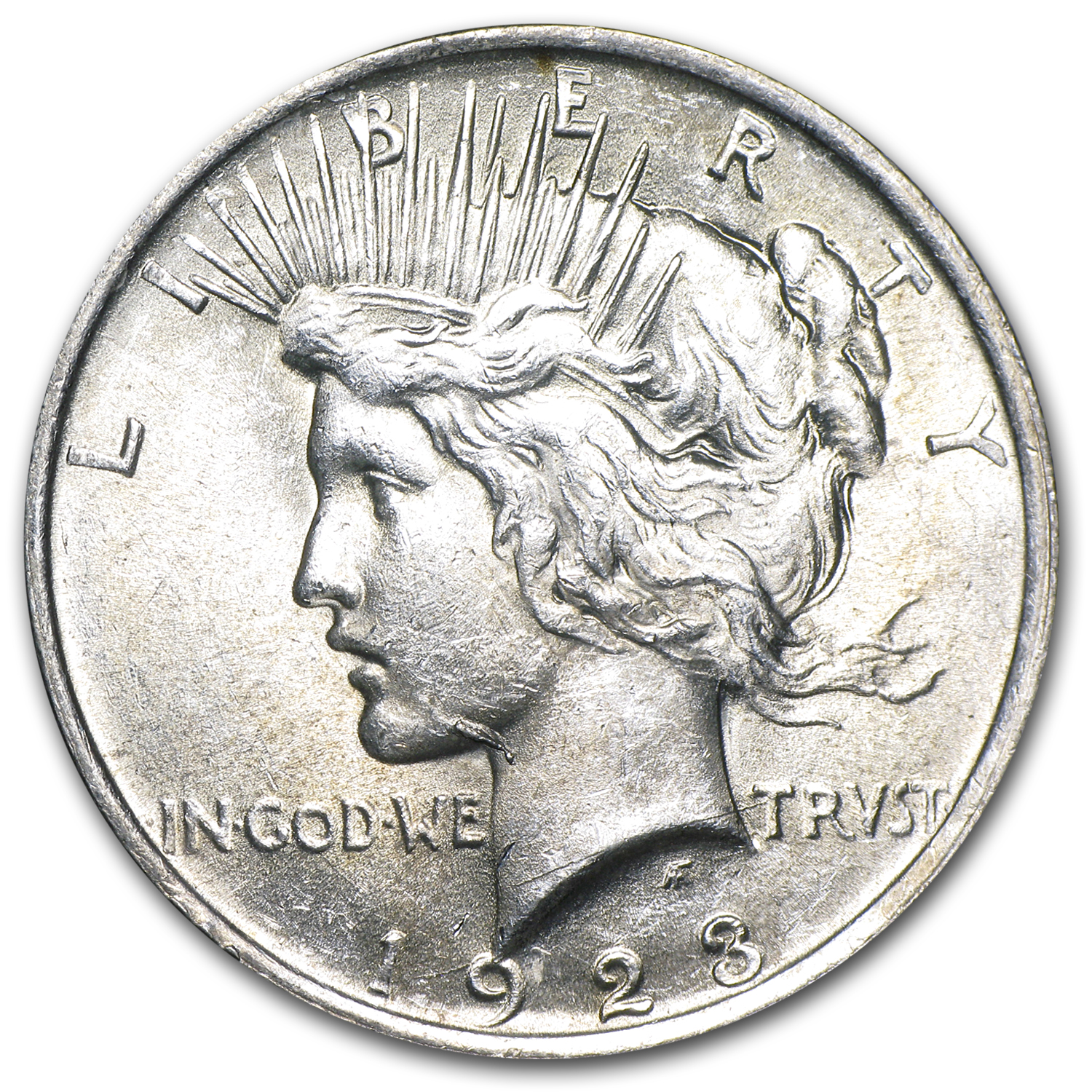 1923 Peace Dollar BU (VAM-1A, Whisker Jaw, Top-50)