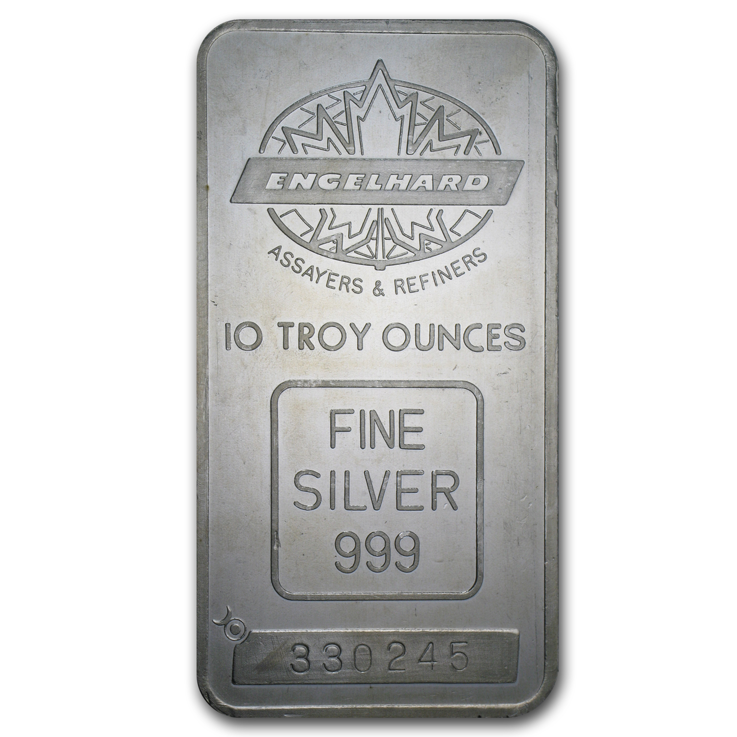 10 oz Silver Bar - Engelhard (Tall/Maple Leaf)