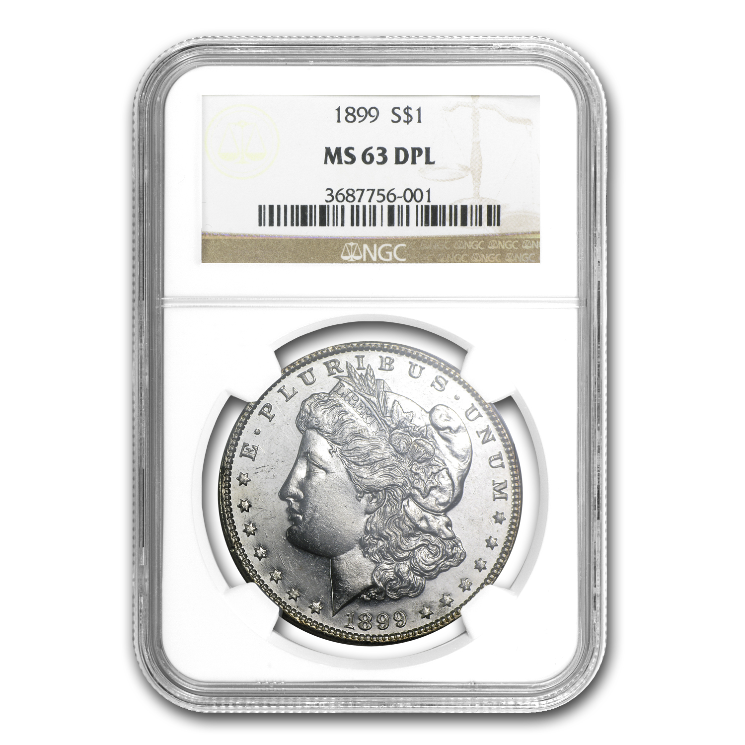 1899 Morgan Dollar MS-63 DPL NGC