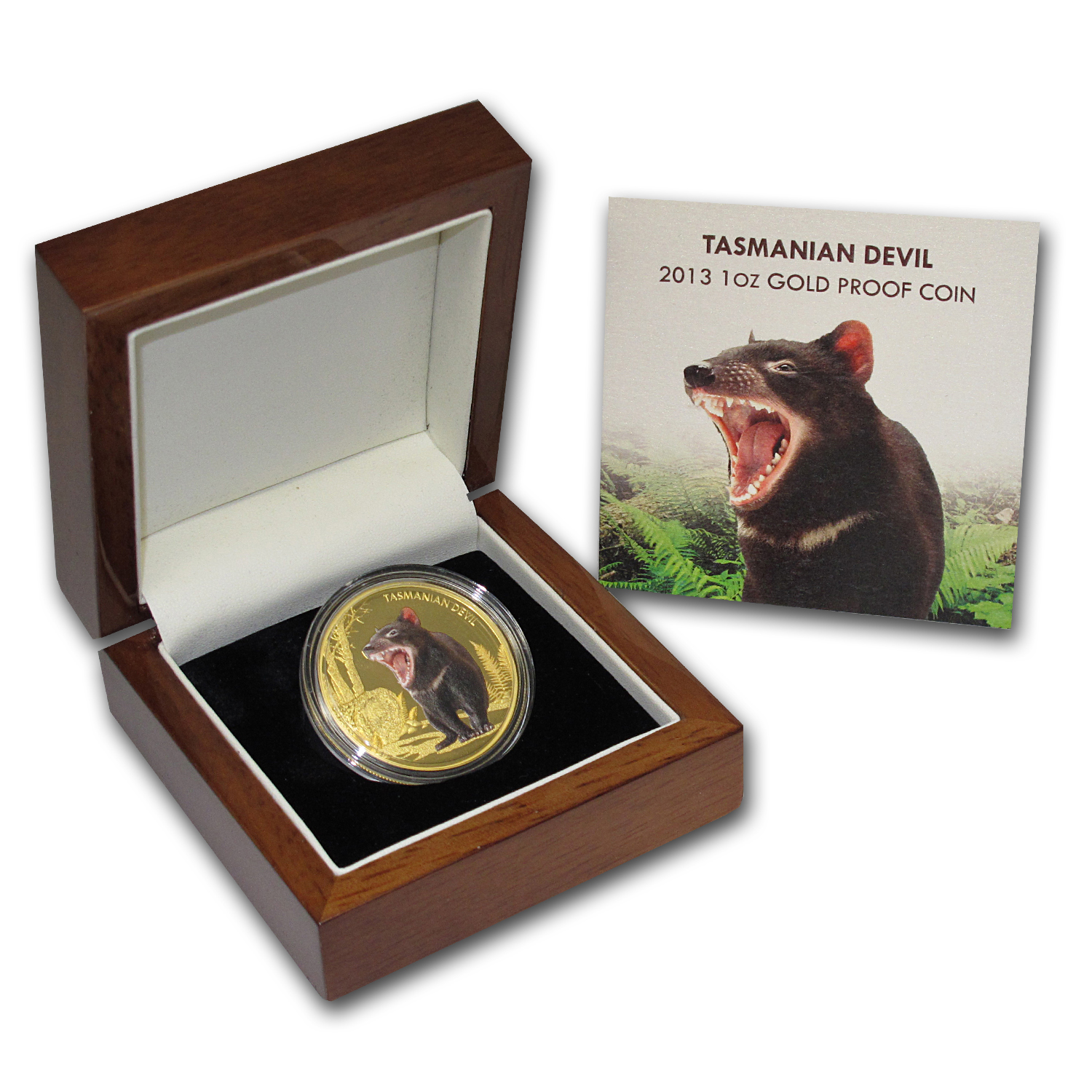 2013 1 oz Proof Gold Tasmanian Devil - Endangered and Extinct