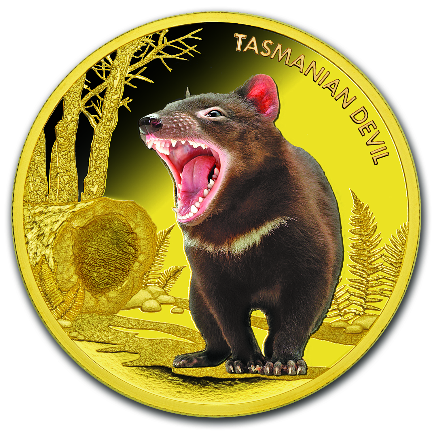 2013 1 oz Proof Gold Tasmanian Devil Endangered and Extinct
