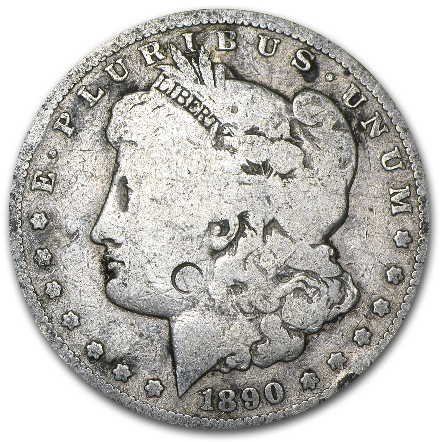 1890-CC Morgan Dollar Good Details VAM-4 TailBar Top-100