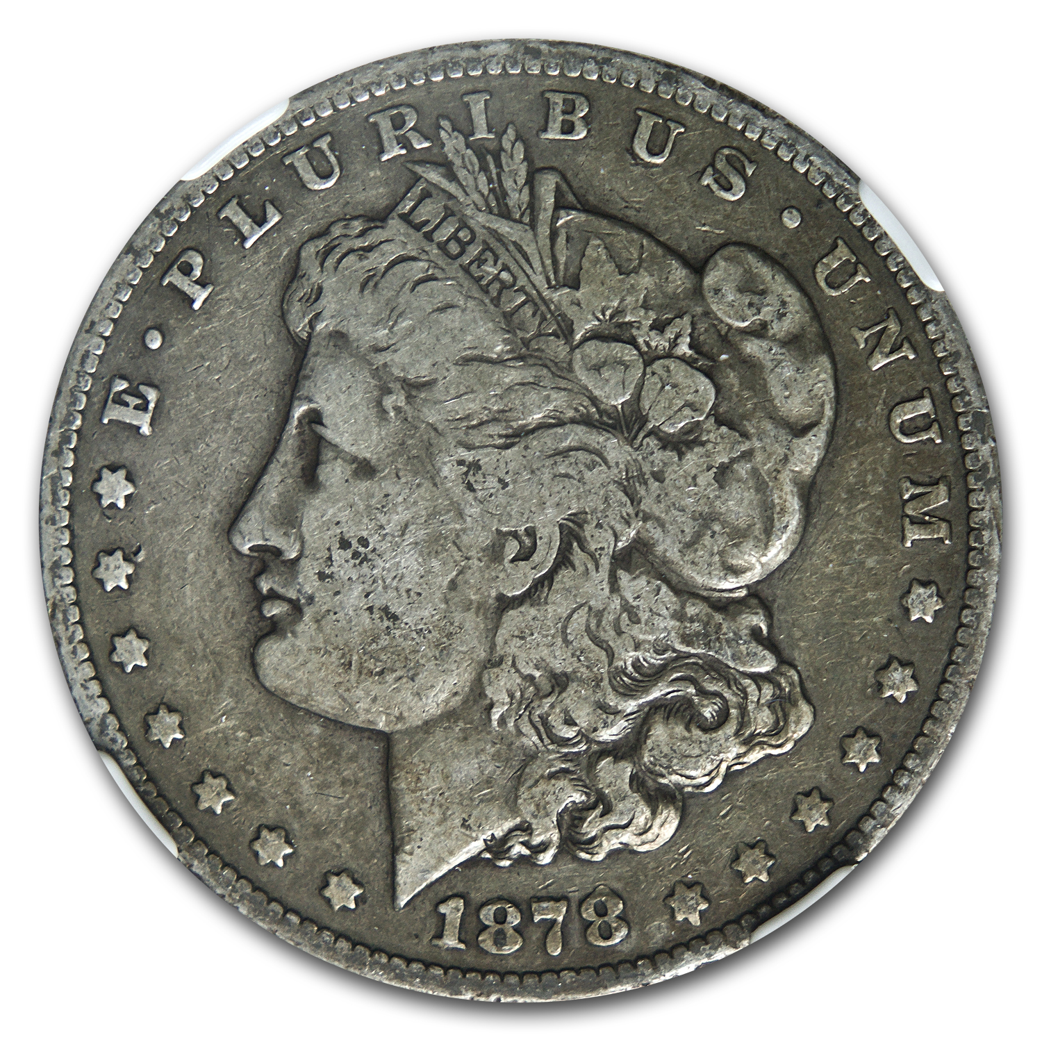 1878-S Morgan Dollar F-15 NGC (VAM-27, Long Nock, Top-100)