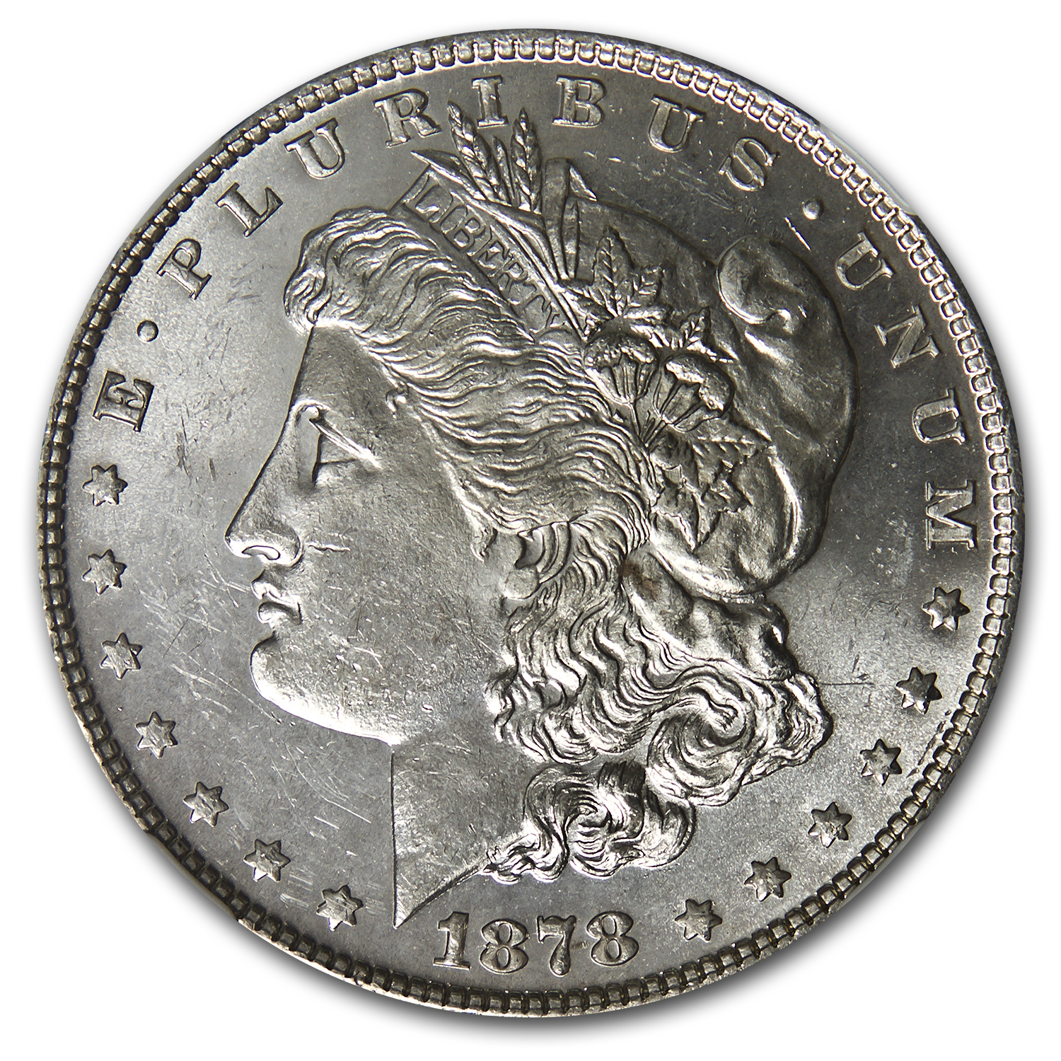1878 Morgan Dollar 7/0 TF MS-62 NGC (VAM-30, Double Talons)
