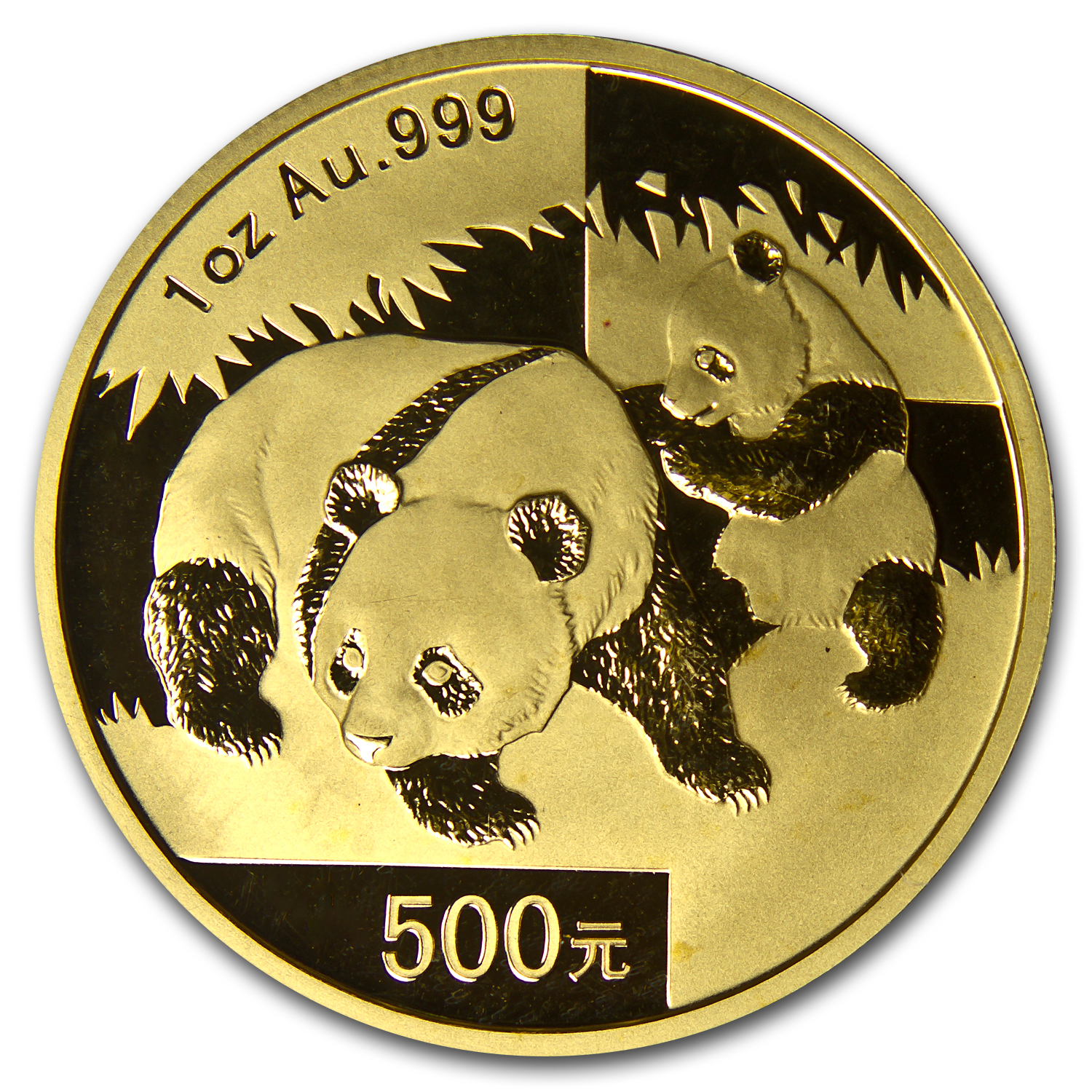 2008 1 oz Gold Chinese Panda MS-68 PCGS