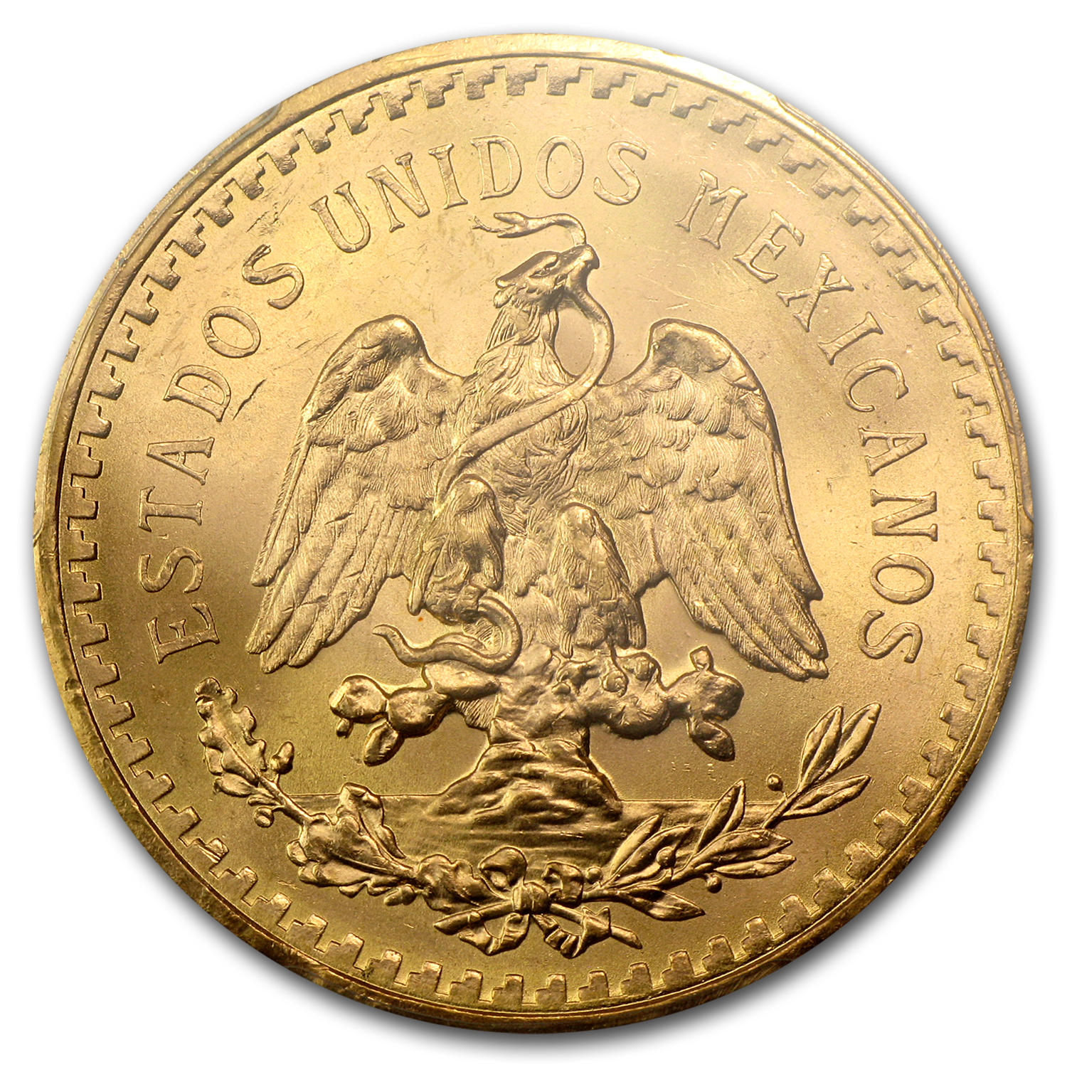 1943 Mexico Gold 50 Pesos MS-64 PCGS