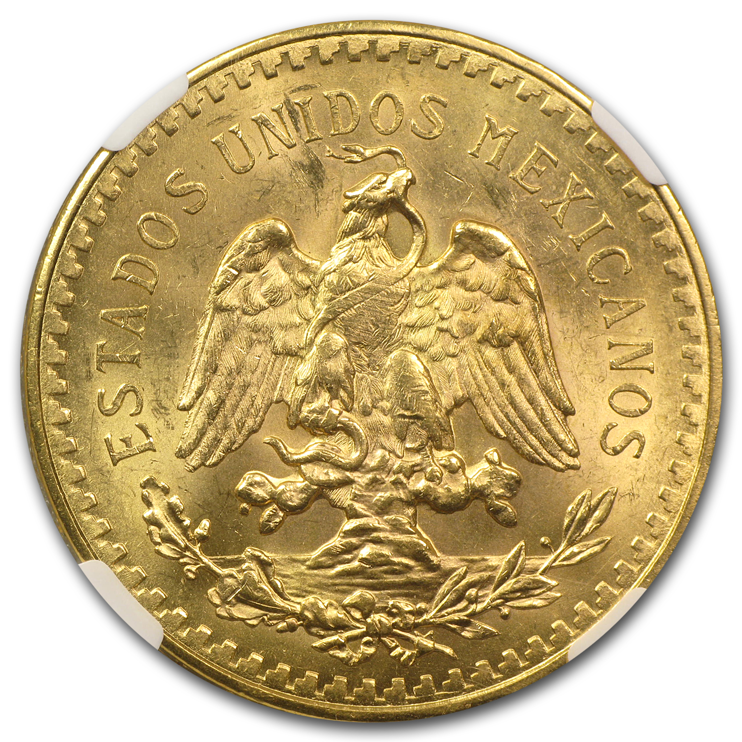 1930 Mexico Gold 50 Pesos MS-63 NGC