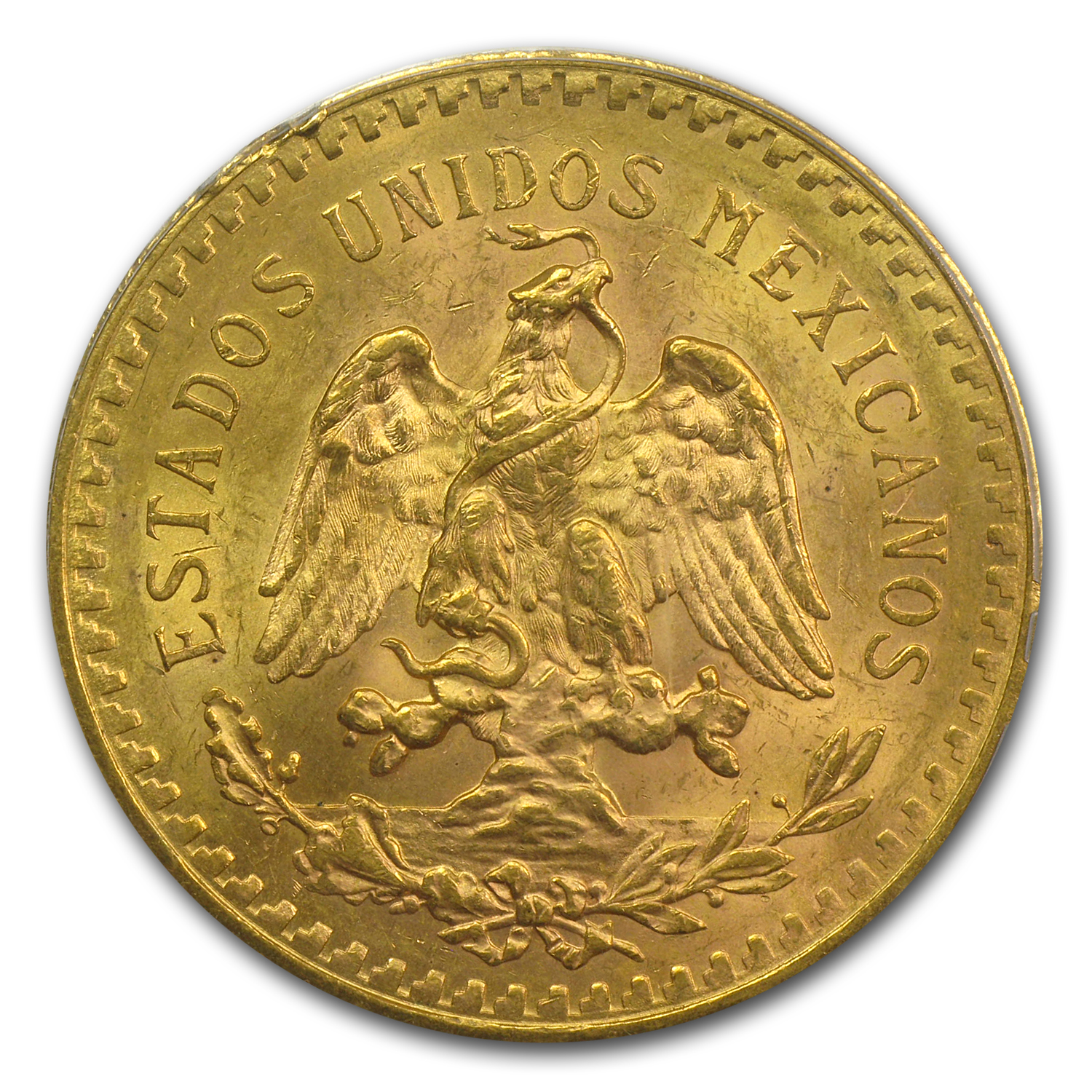 Mexico 1923 50 Pesos Gold Coin - MS-63 PCGS