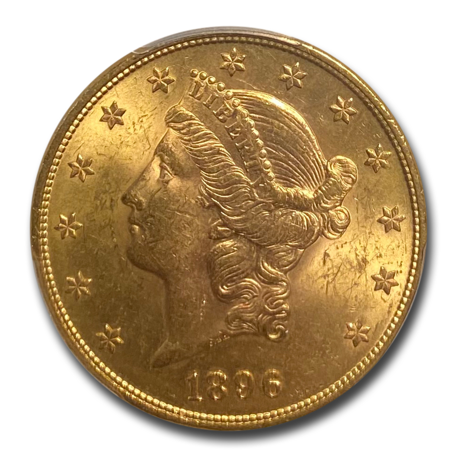 1896 $20 Liberty Gold Double Eagle MS-63 PCGS (FS-301 RPD)