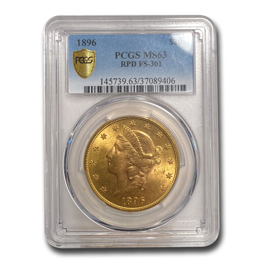 1896 $20 Gold Liberty Double Eagle - (FS-301 RPD) - MS-63 PCGS