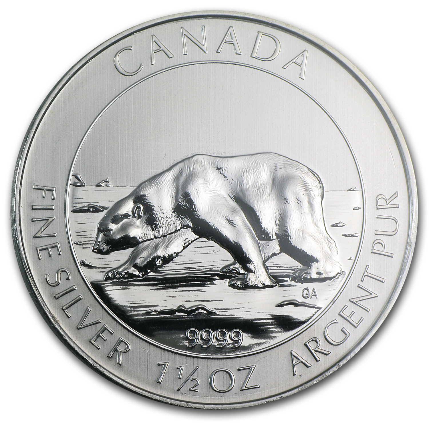 2013 Canada 1.5 oz Silver $8 Polar Bear MS-69 NGC
