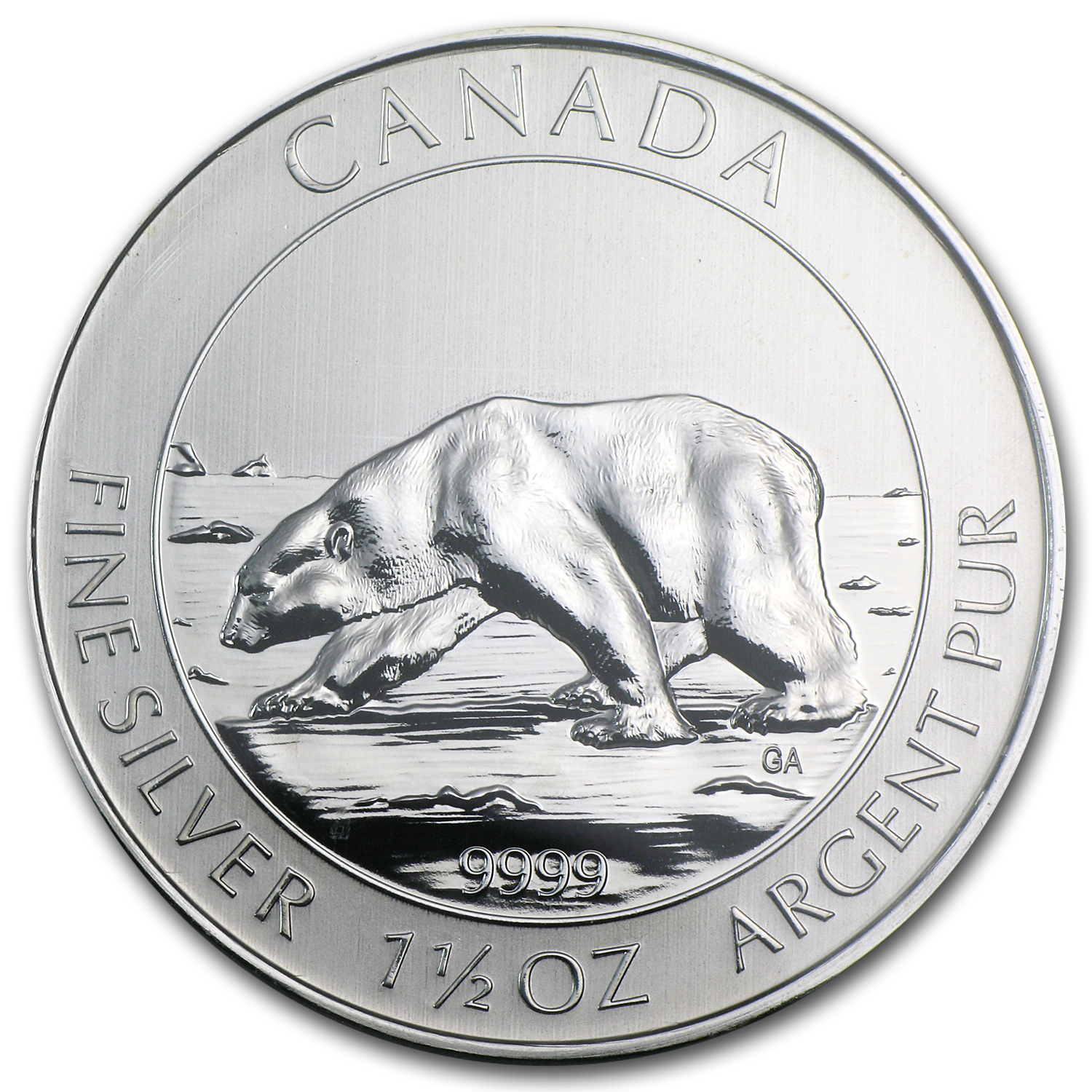 2013 1.5 oz Silver Canadian $8 Polar Bear MS-68 NGC
