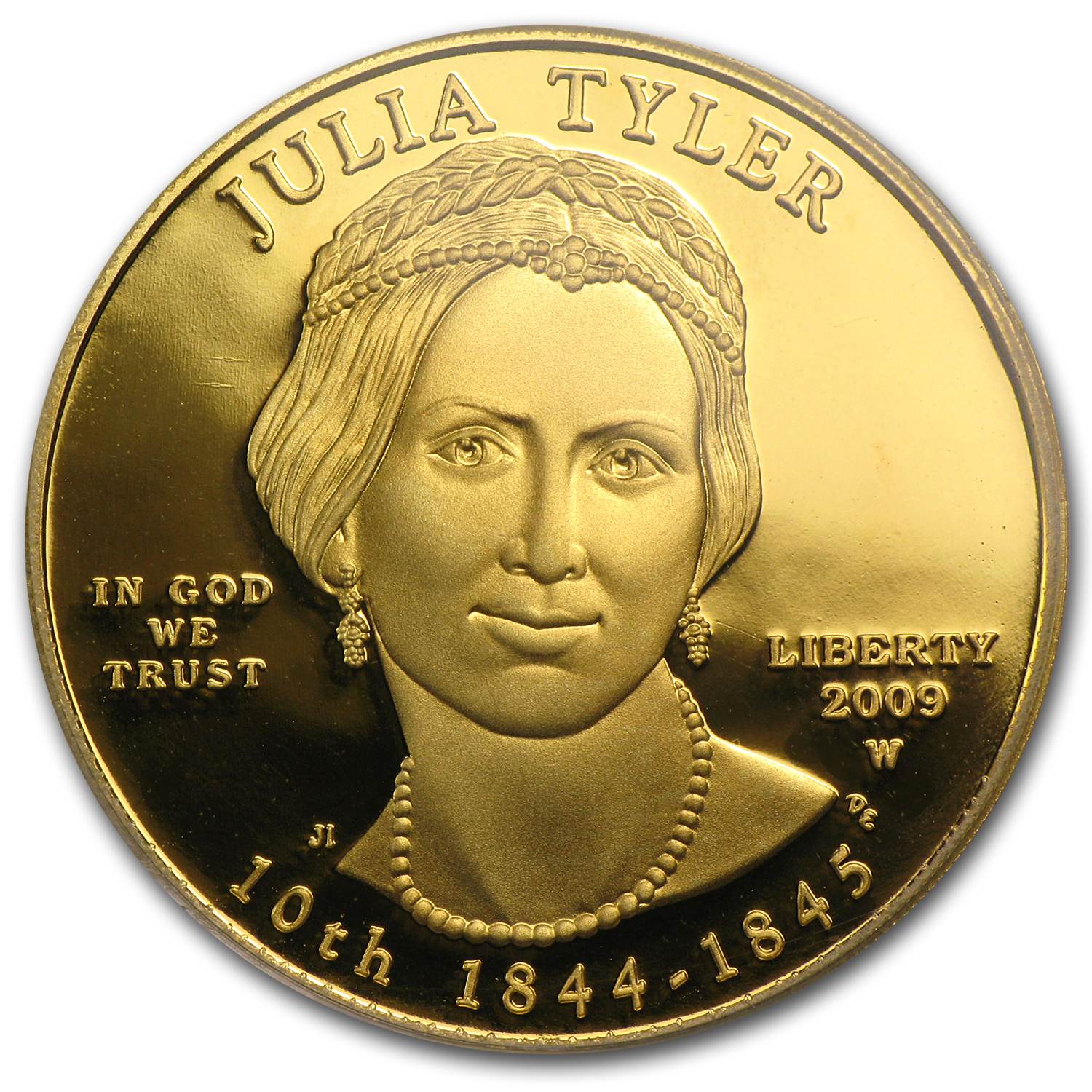 2009-W 1/2 oz Proof Gold Julia Tyler PR-69 PCGS (First Strike)