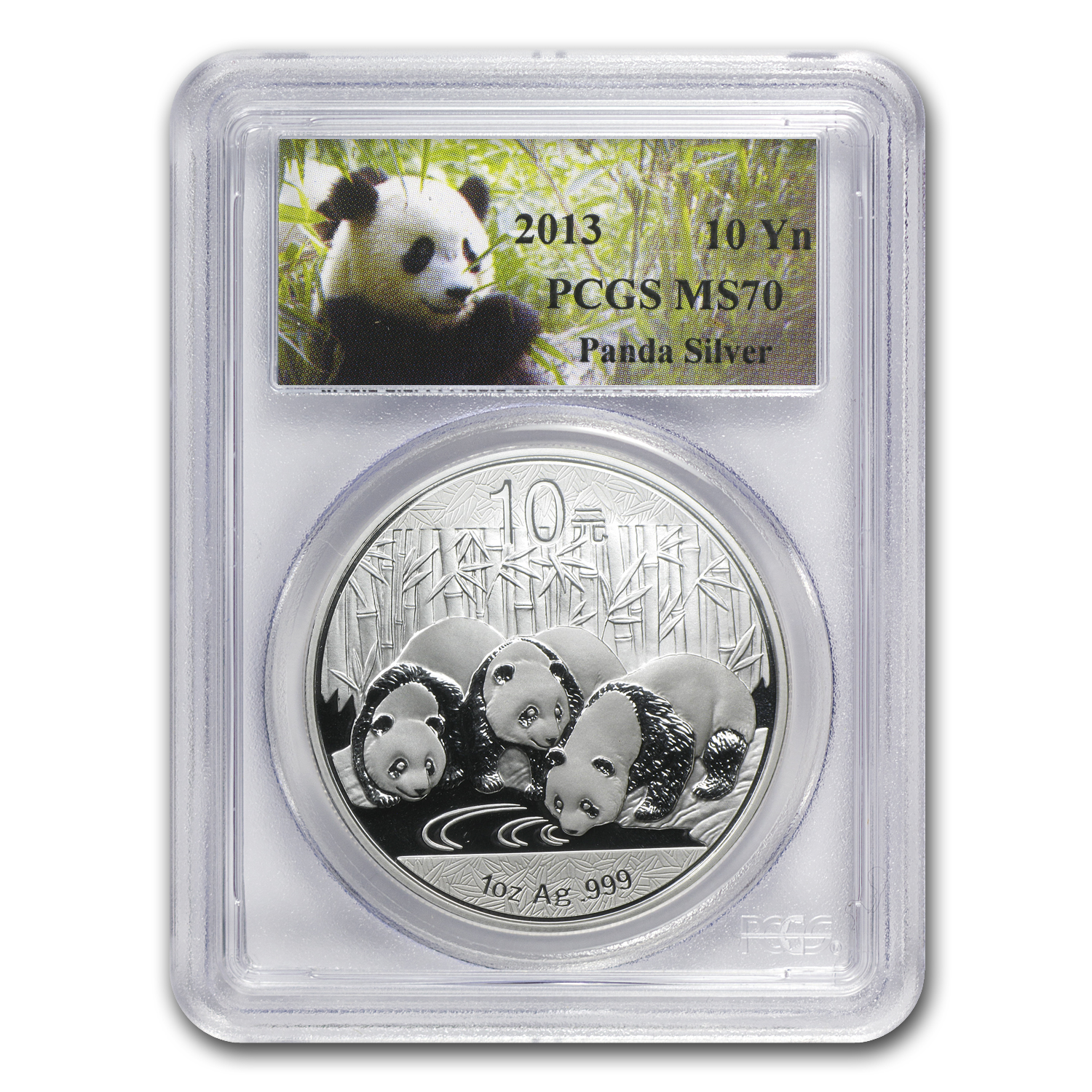 2013 China 1 oz Silver Panda MS-70 PCGS