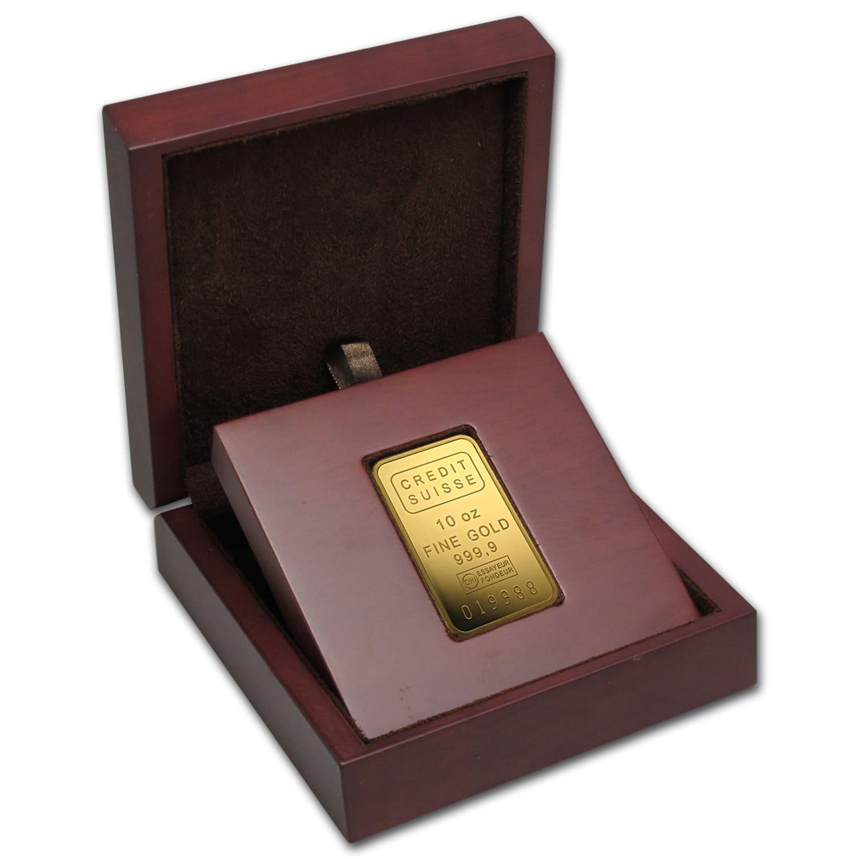 10 Oz Gold Bar Credit Suisse W Assay Credit Suisse