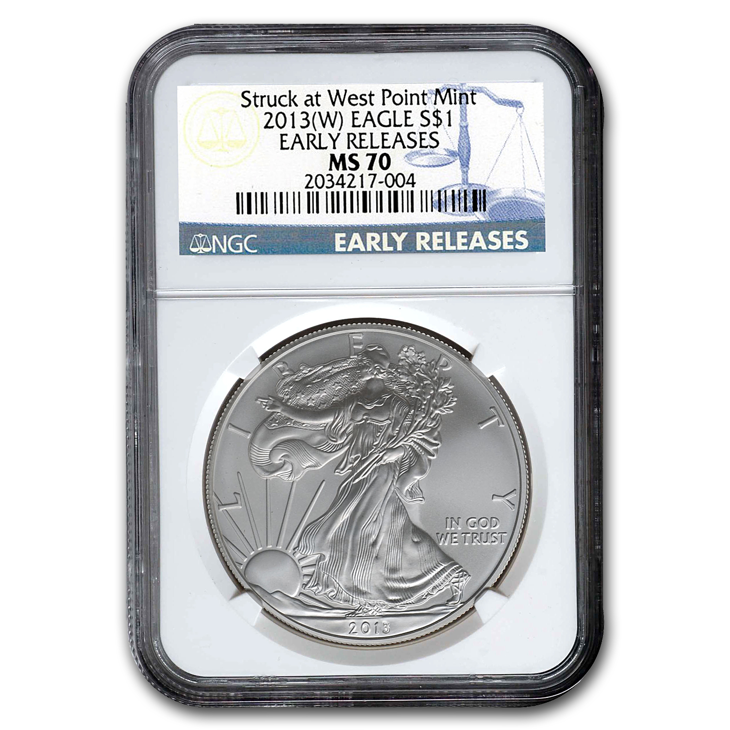 2013 (W) Silver American Eagle MS-70 NGC (Early Releases)
