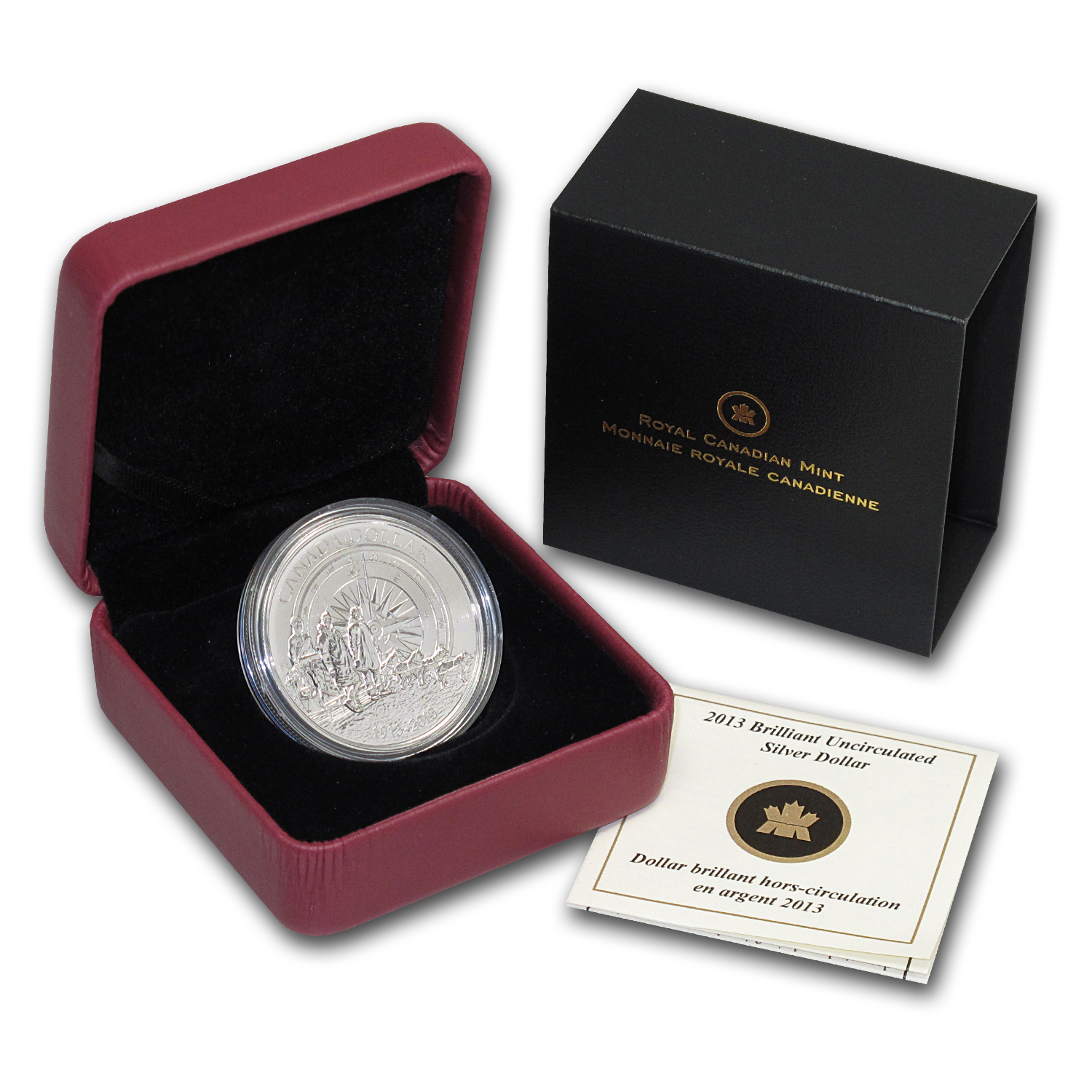 2013 Silver Canadian $1 Arctic Expedition BU (w/Box & COA)
