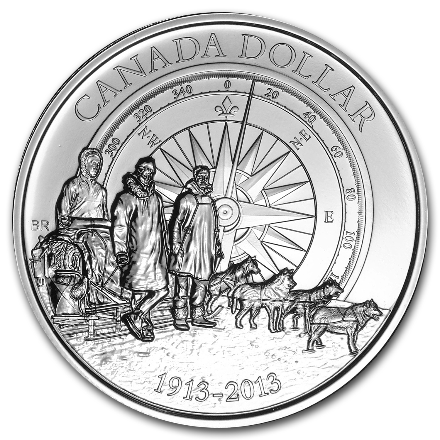 2013 Silver Canadian $1 Arctic Expedition BU (W/ Box & COA)