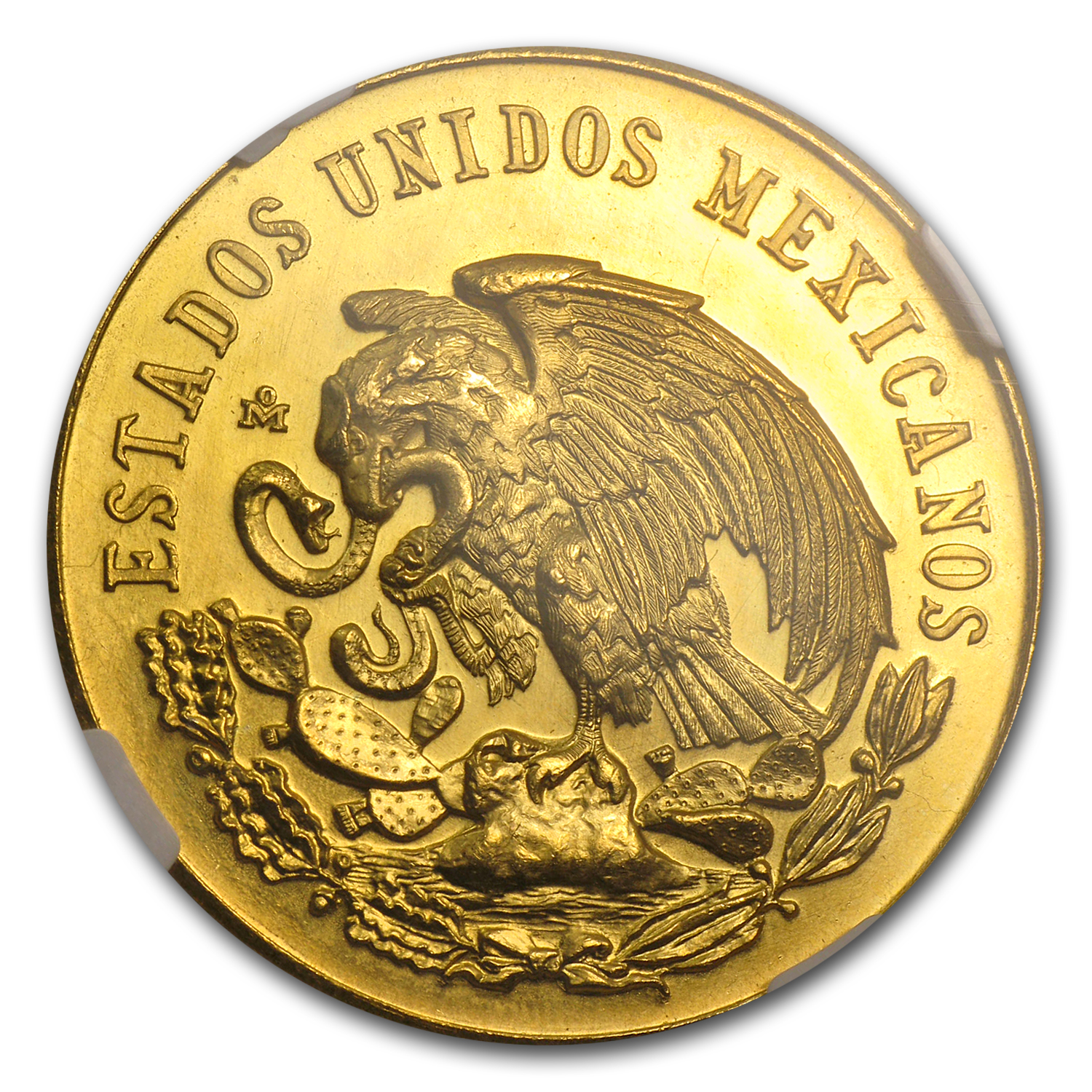 1962 Mexico Gold Cinco De Mayo Medal MS-66 NGC