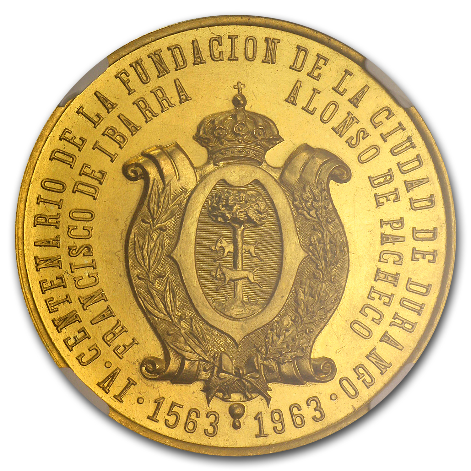 1963 Mexico Founding of Durango NGC MS-65 Medal