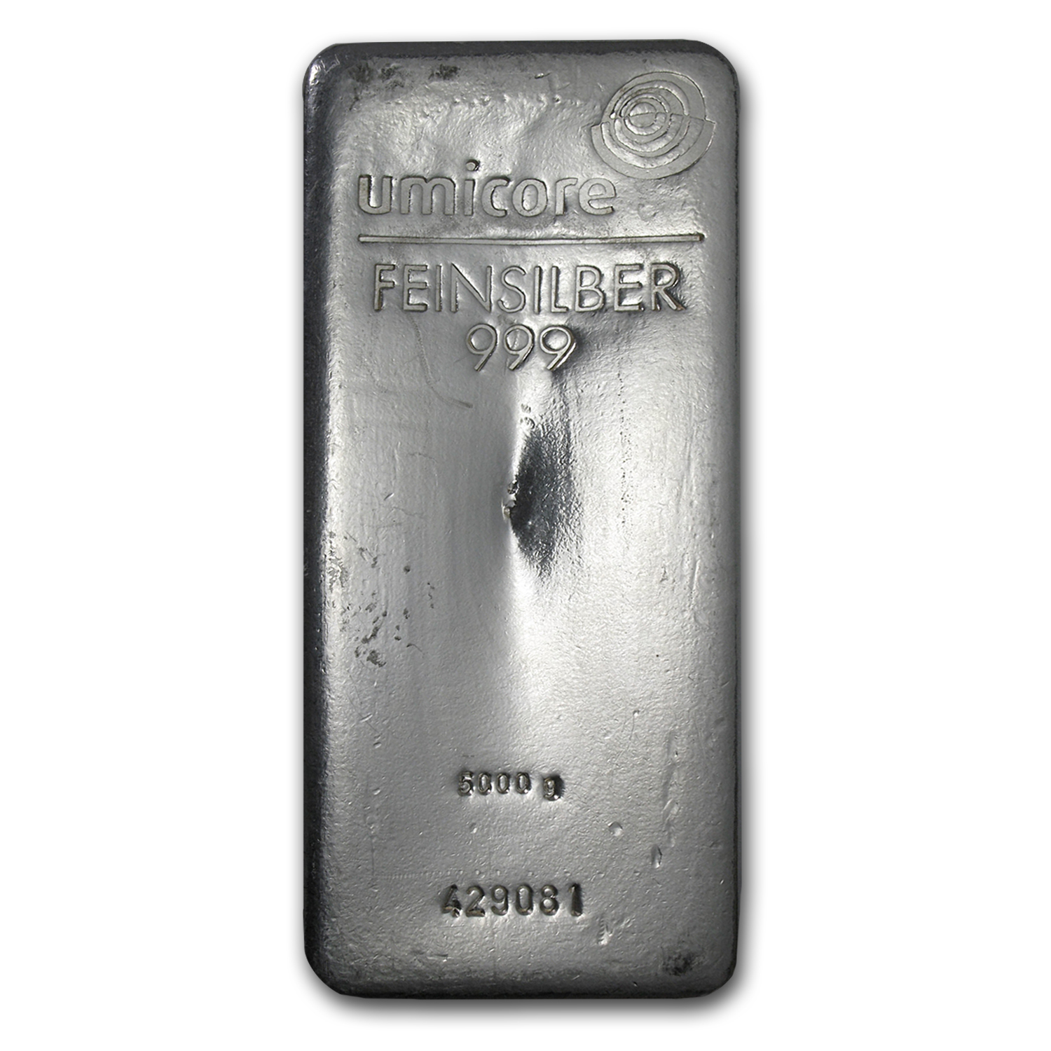 5000 gram Silver Bar - Umicore Coin Bar (Poured)