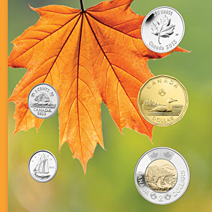 2013 RCM 5-Coin O'Canada Gift Set (w/Maple Quarter & Card)