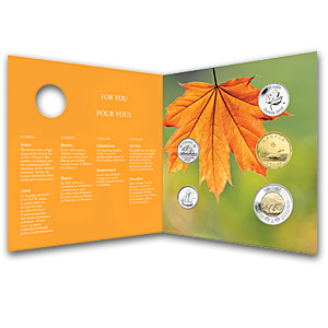 2013 O'Canada 5-Coin Gift Set With Maple Quarter & Card - RCM