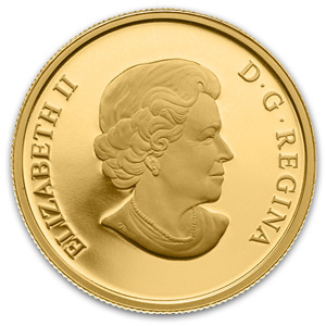 2013 1/2oz Gold Canadian $200 Proof - Jacques Cartier