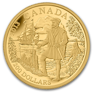 2013 1/2 oz Gold Canadian $200 Jacques Cartier Proof