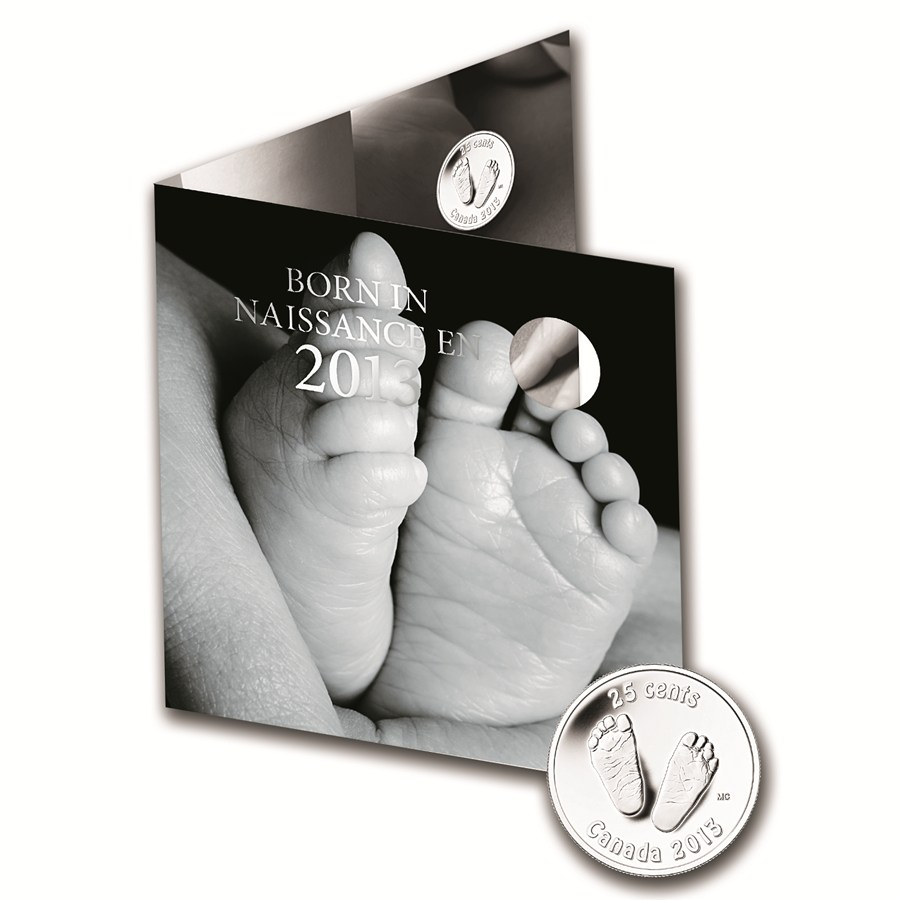Baby Gift Gold Coin : Coin newborn baby gift set w footprint quarter
